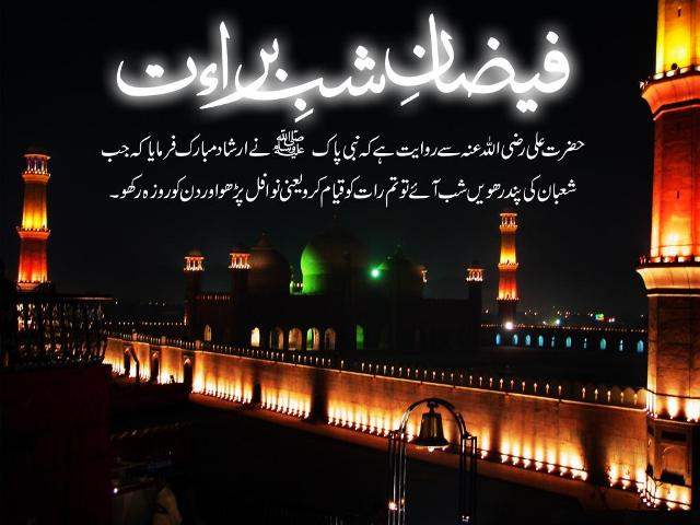 Shab e Barat Prayers (Nawafil) in Urdu