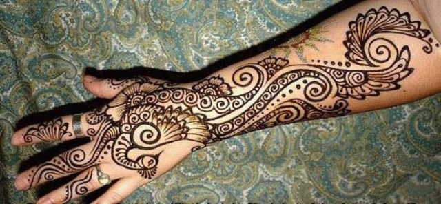 Latest Mehndi Designs 2014 for Eid