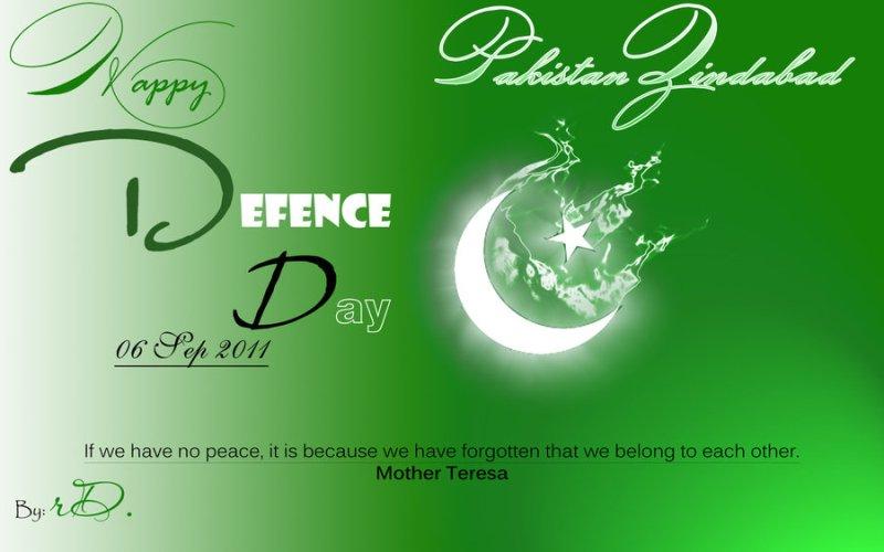 pakistan flag defence day 2014