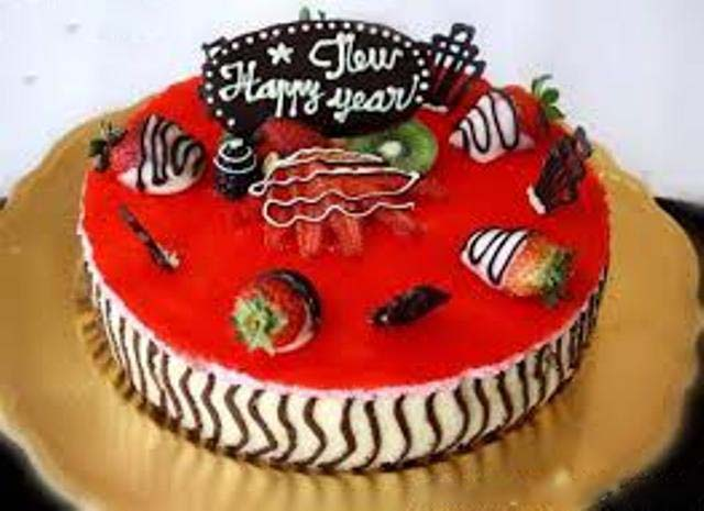happy new year picture of cake