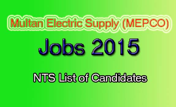 MEPCO list of Candidates