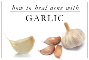 Garlic home remed for acne