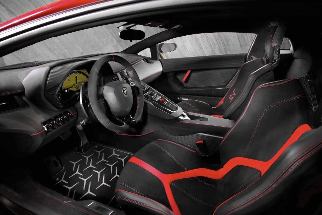 Interior Parts designing  Lamborghini Aventador SV sports Car Model