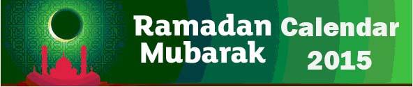 Ramazan Calendar Timing 2015