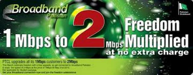 Get 2 Mbps PTCL DSL Connection for the Price of 1Mbps