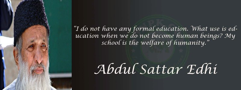 Edhi Quotes for Education