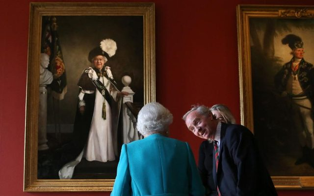 Nicky Philipps  latest painting for royal family