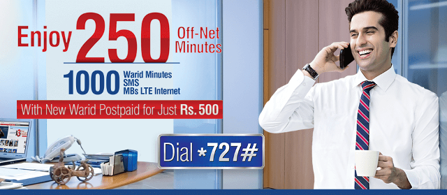 warid monthly postpaid packages detail