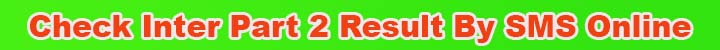 Inter Part II 2nd year Result 2020 by sms