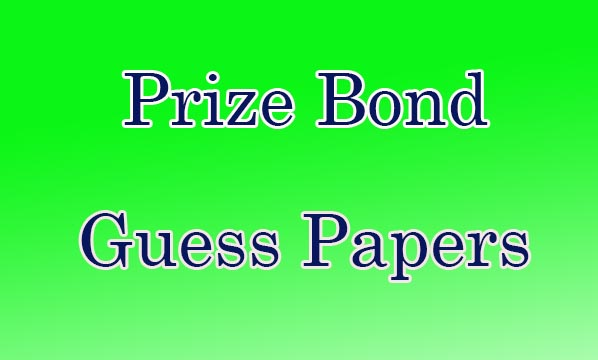 Download prize bond guess paper for draw results