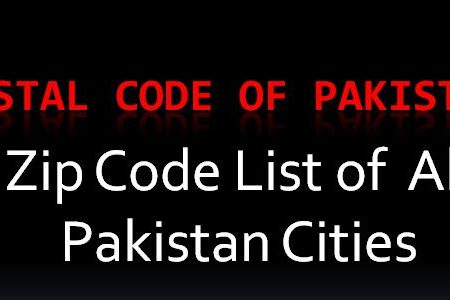 Zip code of Pakistan city list | Donpk