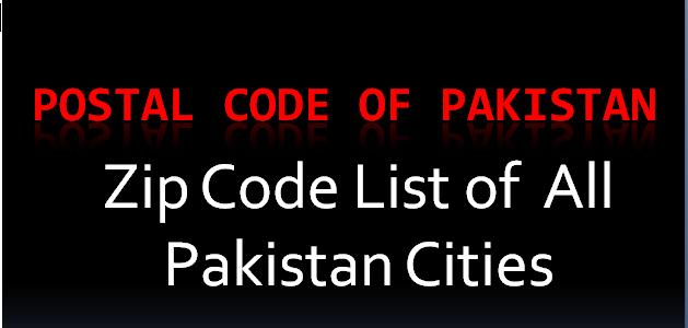 Postal code of Pakistan cities