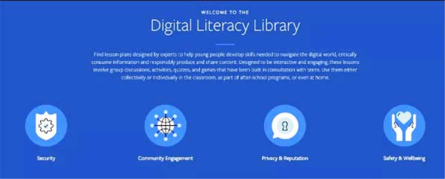 Facebook introduced a digital library for Teenagers