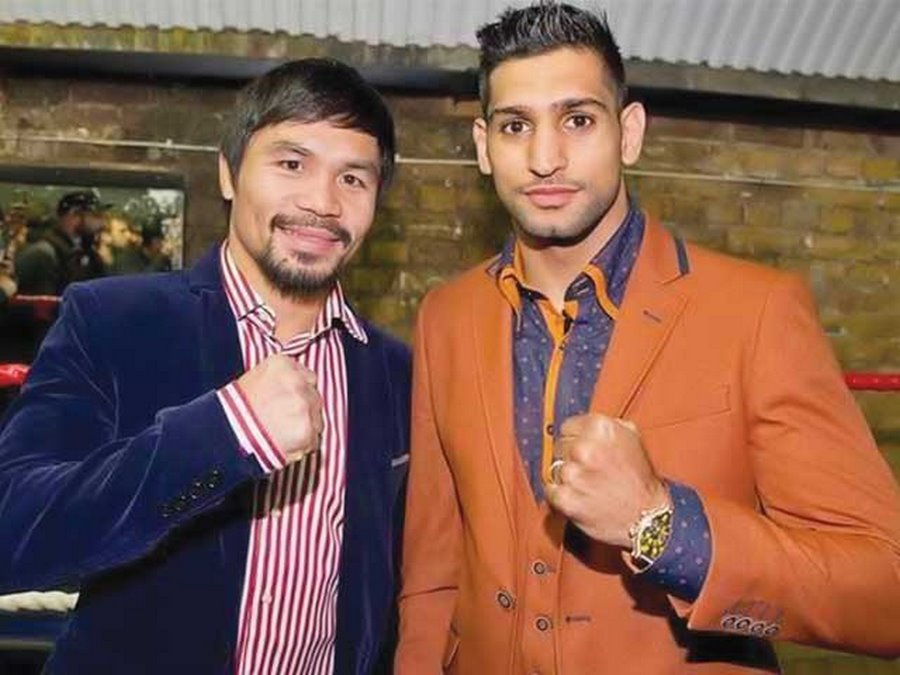 Boxer Amir Khan and Manny Pacquiao will be in Riyadh on November 8