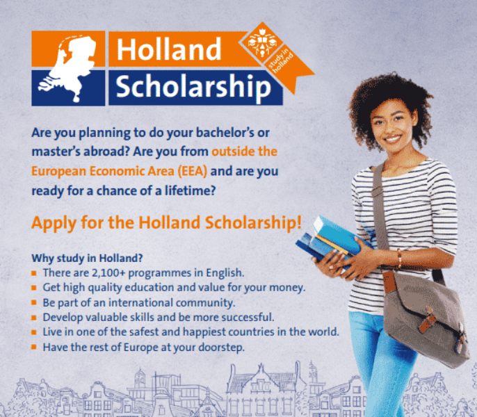 Study in Holland-Holland Scholarship 2020-21