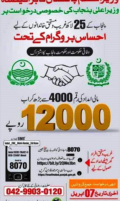 Punjab government increases financial aid of deserving families