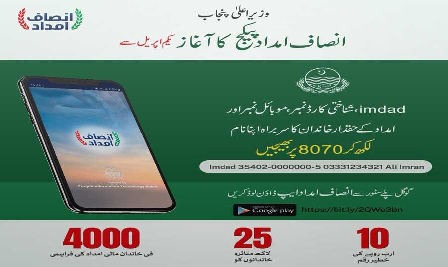 Insaf Imdad Online Registration Guide for Imdad Package 2020 April 2020