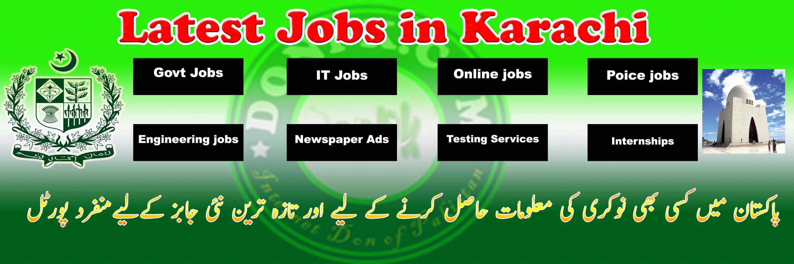 Today Jobs in Karachi