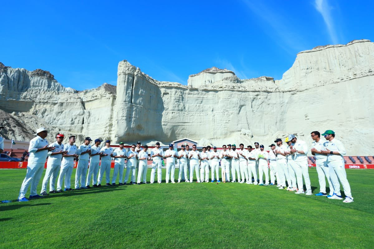 Cricket team at Gwadar-cricket-stadium