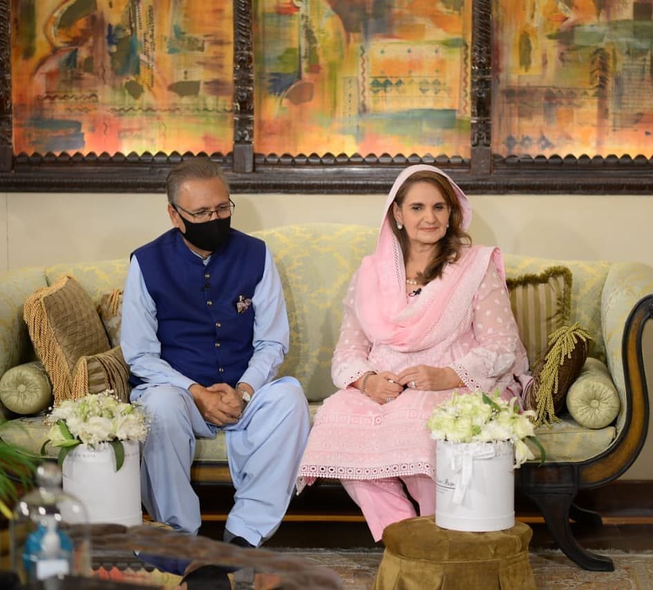 President of Pakistan with his wife
