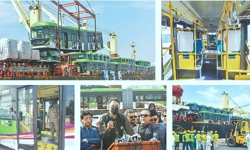 Green line buses Karachi Transport system